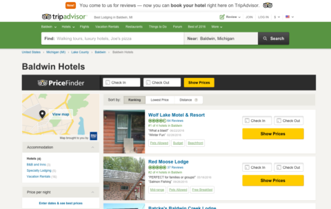 Trip Advisor Great Link Building for Hotels, Resorts and Tourist Attractions