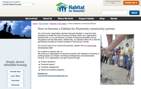 Habitat for Humanity Become a Community Partner